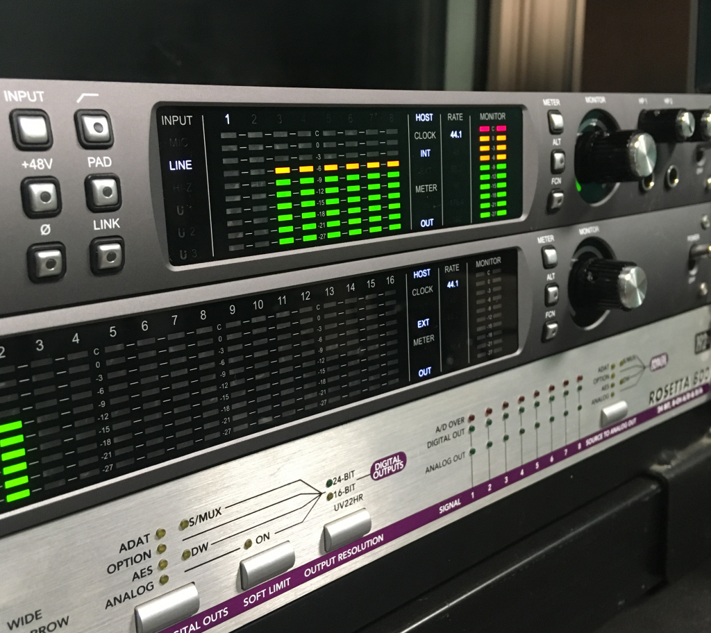 Recording studio audio interfaces